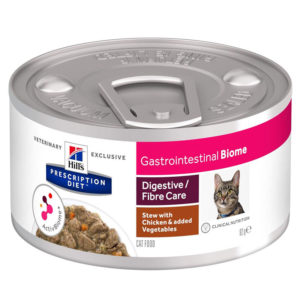 Hill's Prescription Diet Gastrointestinal Biome Digestive/Fiber Care Chicken & Vegetable Stew Canned Cat Food 82g