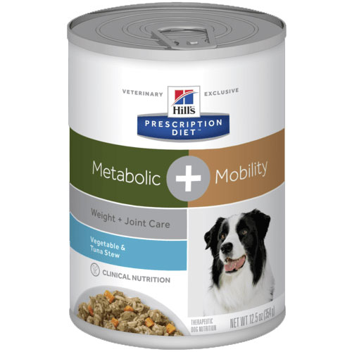 Hill's Prescription Diet Metabolic Plus Mobility Vegetable & Tuna Stew Dog Food 354g