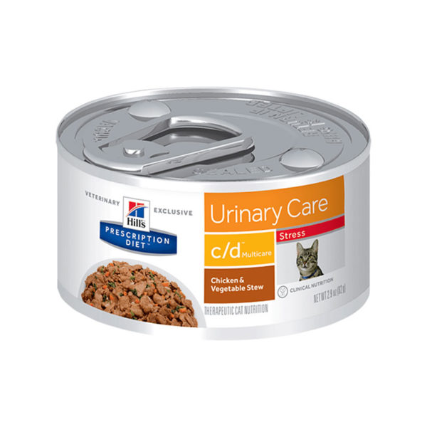 Hill's Prescription Diet c/d Multicare Stress Urinary Care Chicken & Vegetable Stew Canned Cat Food 82g