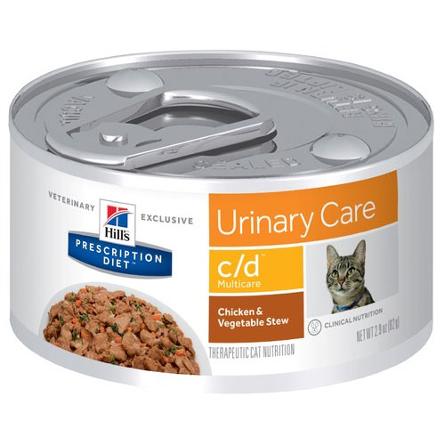 Hill's Prescription Diet c/d Multicare Urinary Care Chicken & Vegetable Stew Canned Cat Food 82g