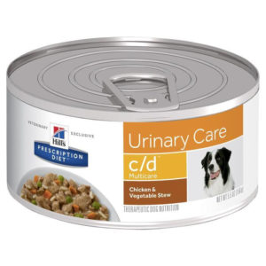 Hill's Prescription Diet c/d Multicare Urinary Care Chicken & Vegetable Stew Canned Dog Food 156g