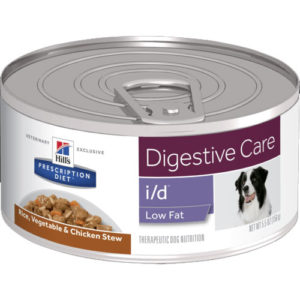 Hill's Prescription Diet i/d Low Fat Digestive Care Chicken & Vegetable Stew Dog Food 156g