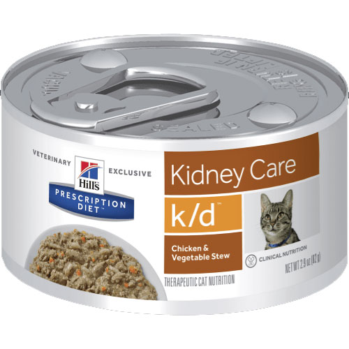 Hill's Prescription Diet k/d Kidney Care Chicken & Vegetable Stew Canned Cat Food 82g
