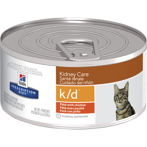 Hill's Prescription Diet k/d Kidney Care Pate with Chicken Canned Cat Food 156g