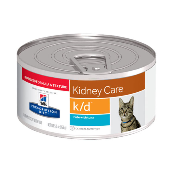 Hill's Prescription Diet k/d Kidney Care Pate with Tuna Canned Cat Food 156g