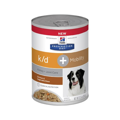 Hill's Prescription Diet k/d Plus Mobility Chicken & Vegetable Stew Dog Food 354g