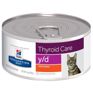 Hill's Prescription Diet y/d Thyroid Care Canned Cat Food 156g