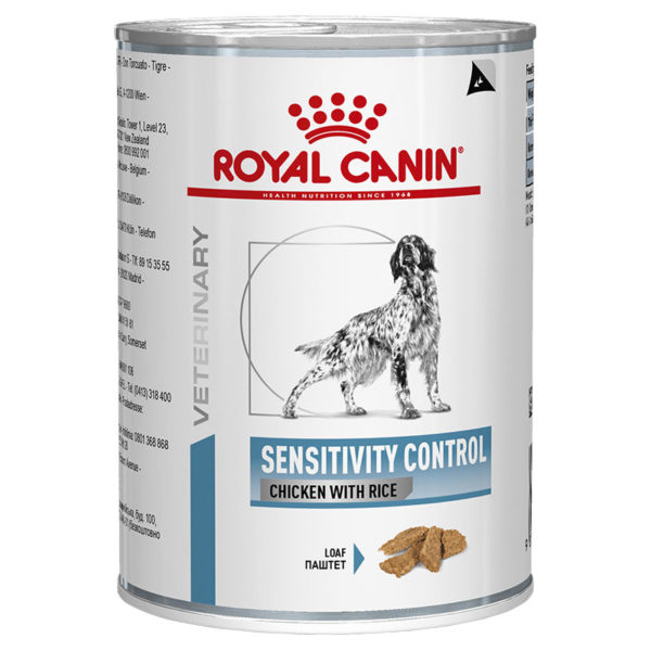 Royal Canin Sensitivity Control Chicken & Rice Dog Food 12 x Cans